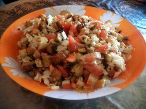 Рецепт салата с грудкой и грибами и пошаговые фото