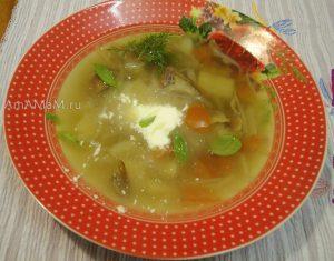Щи со свежей капустой и сушеными белыми грибами - рецепт и фото