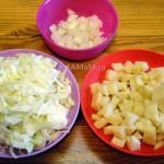 Как правильно нарезать капусту, картофель и лук для щей - фото
