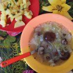 Обед с маслятами и картошкой