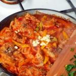 Рецепт и способ приготовления рагу из овощей с соевым мясом в томате