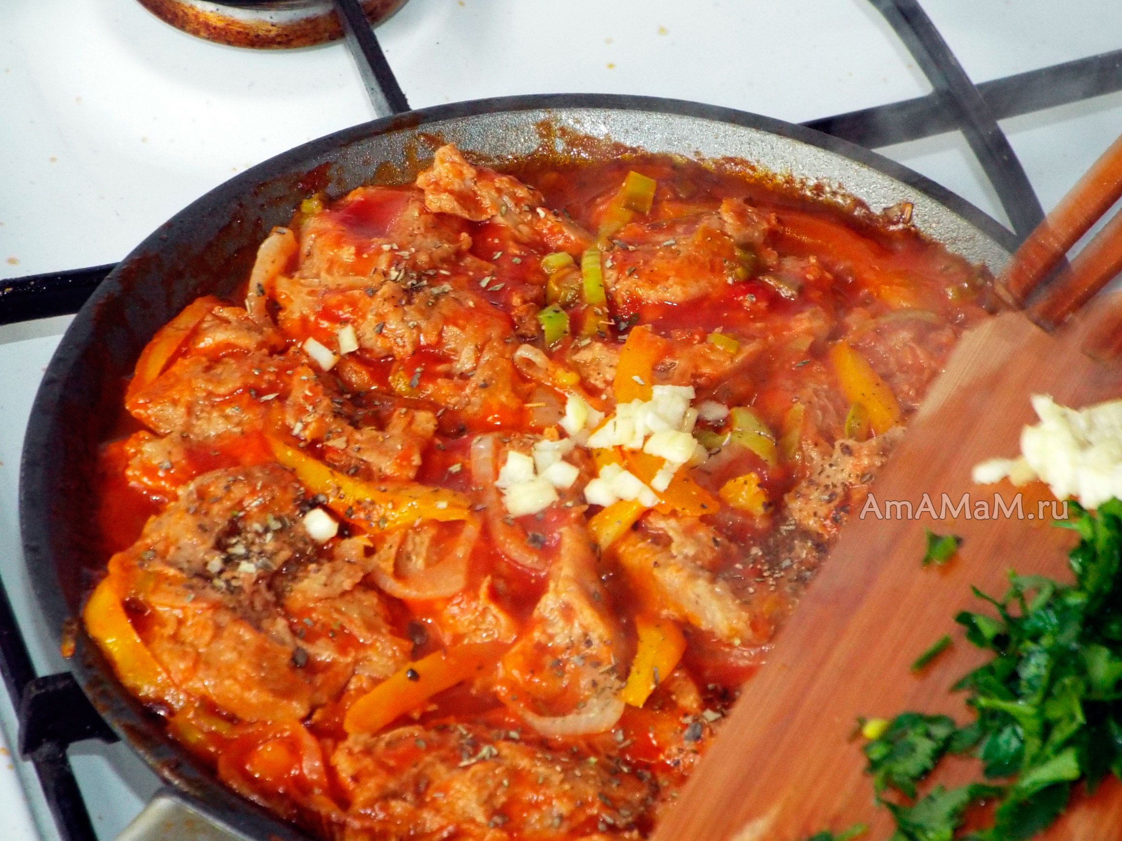 Овощное рагу с мясом в духовке пошаговый рецепт