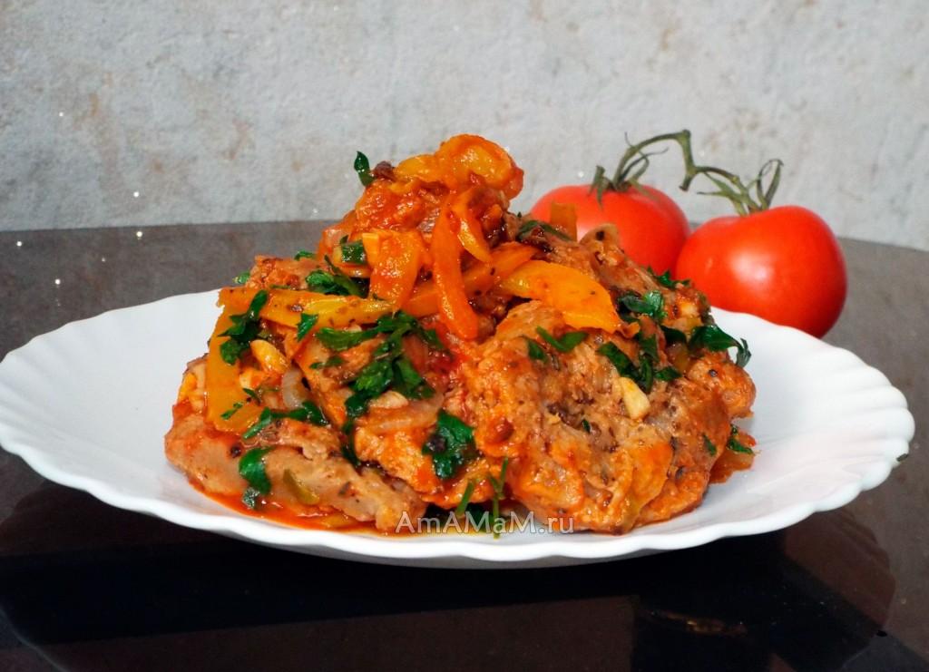 Приготовление соевого мяса - рецепт с овощами