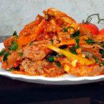 Соевые стейки с овощами