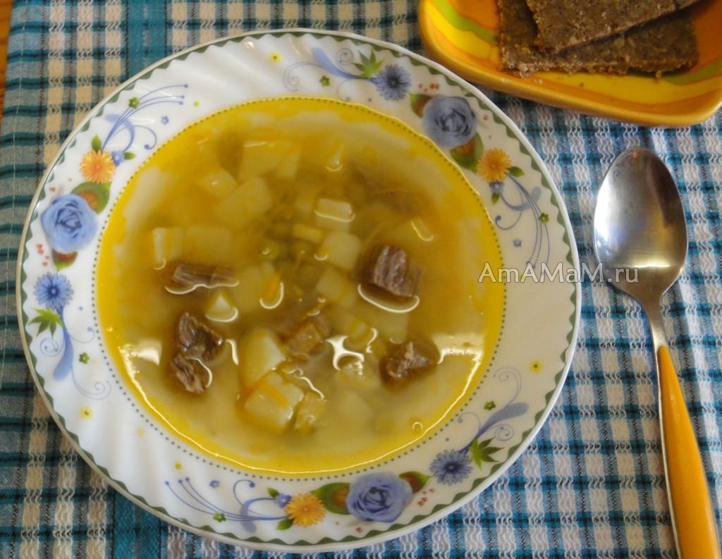 Суп из зеленого горошка с картофелем на мясном бульоне - рецепт и способ приготовления