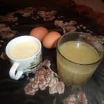 Приготовление белого соуса из яиц к мясному рагу - рецепт с фото