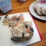 Праздничные мясные блюда домашнего приготовления - ветчина в тетрапакете