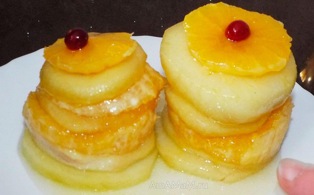 Блюда из яблок рецепты с фото простые