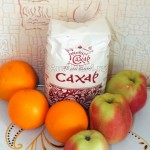 Яблоки, апельсины и сахар - простой десерт в карамели