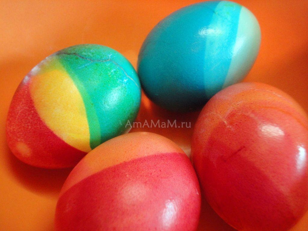 Как сделать яйца разноцветными
