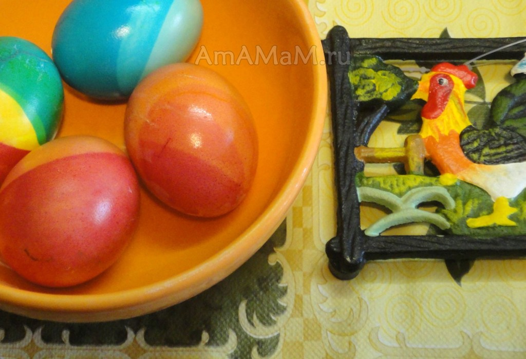 Фото цветных пасхальных яиц