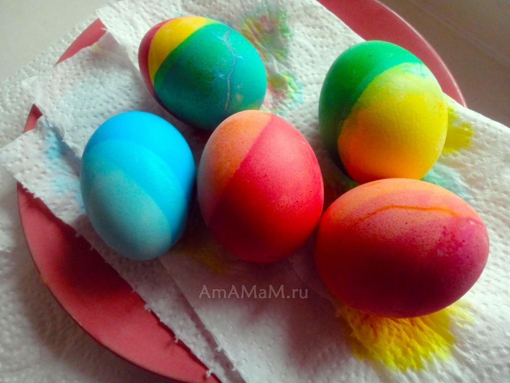 Многоцветные яйца - пищевые красители