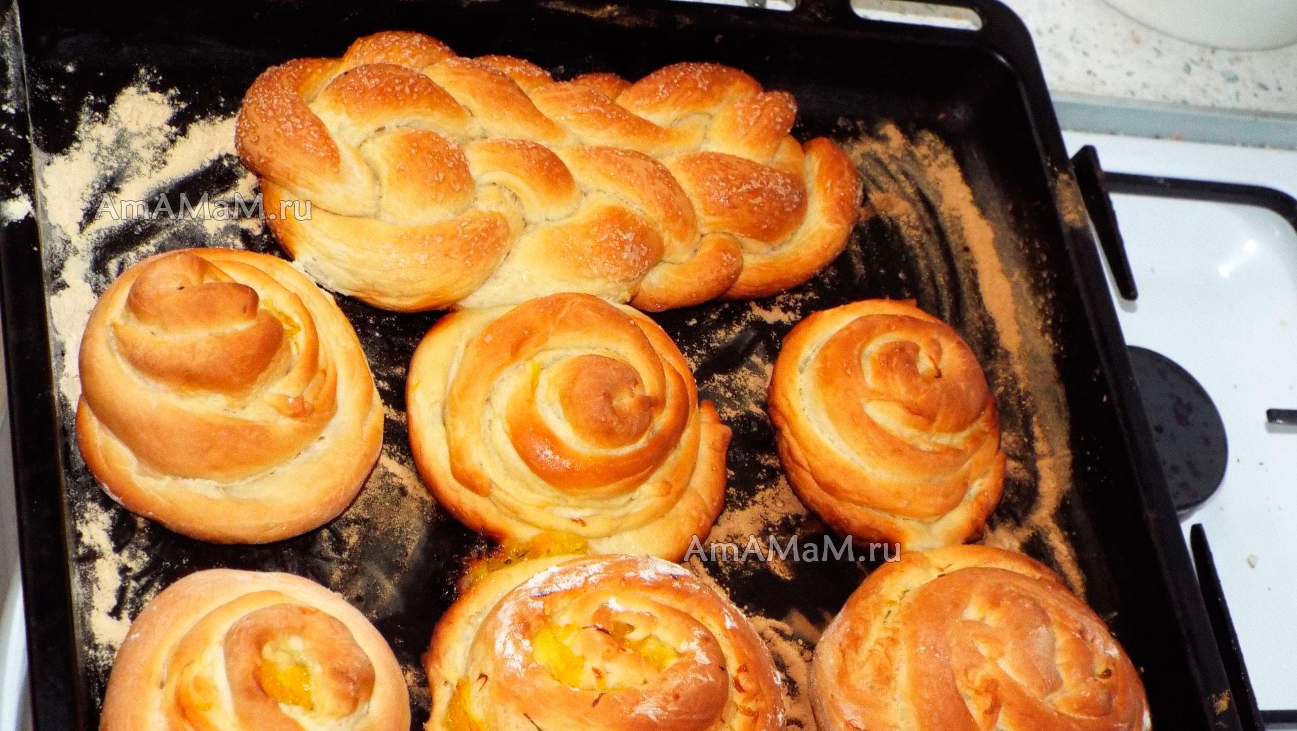 Рецепт апельсиновых булочек, свернутых по спирали (улиткой)