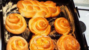 Булочки с начинкой из апельсинов, завернутые по спирали (улиткой) - фото и рецепт