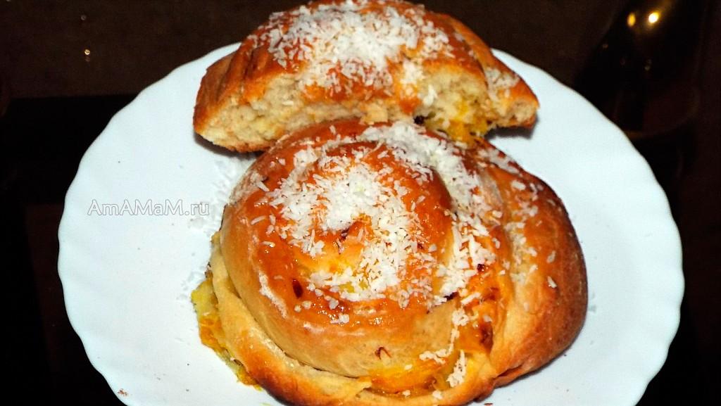 Апельсиновая выпечка - булочки-улитки