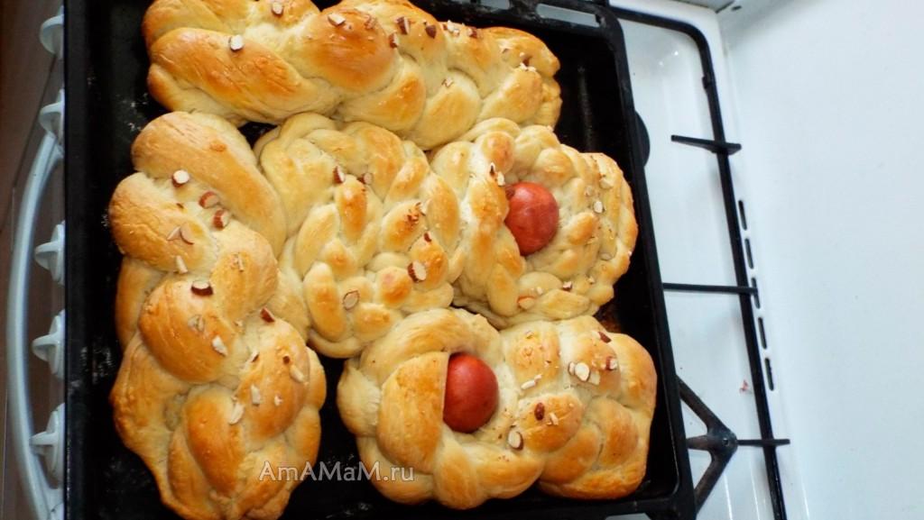 Рецепт греческих пасхальных куличей с фото