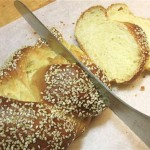 Хала - плетеный хлеб из 4 кос - фото