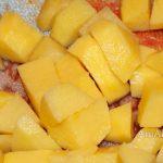 Картошка для начинки расстегаев с икрой трески и кальмаром