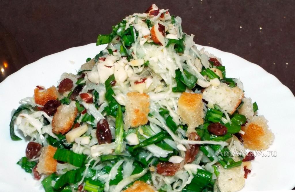 Как готовят черемшу - рецепт салата