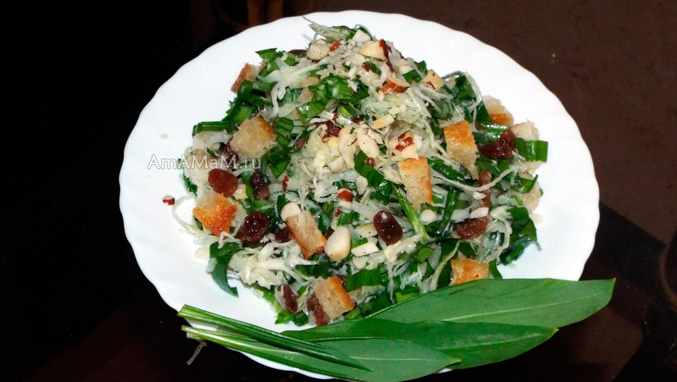 Салат из черемши рецепты