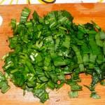 Фото нарезки черемши и рецепт салата