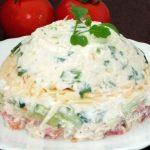 Салат куриный с сыром