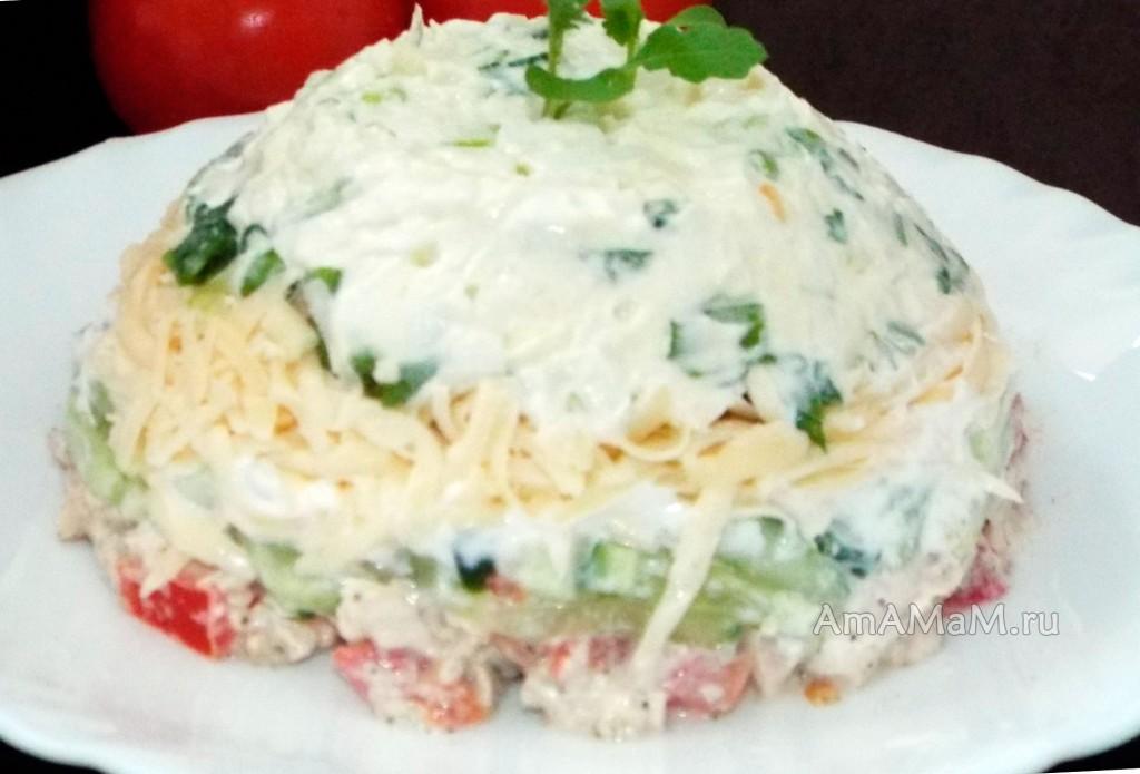 Рецепт салата крабовые рафаэлло