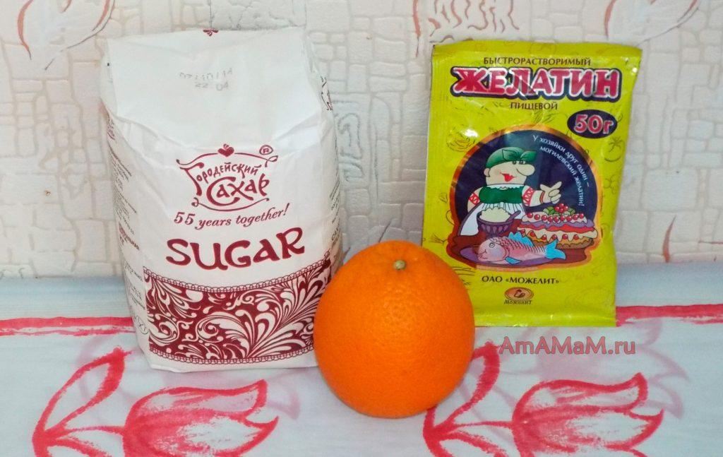 Как сделать желе из апельсинов в домашних условиях - рецепт