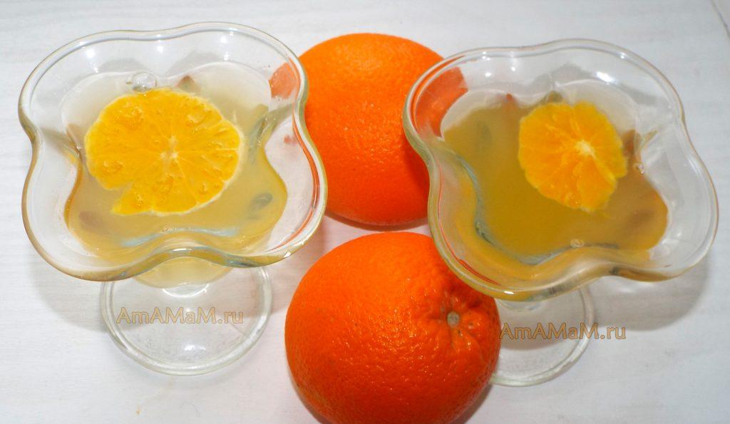 Как выглядит апельсиновое желе - фото и рецепт приготовления
