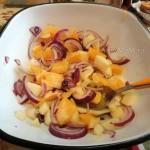 Маринование лука в апельсиновом соке - фото