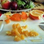 Этапы приготовления салата из кальмаров