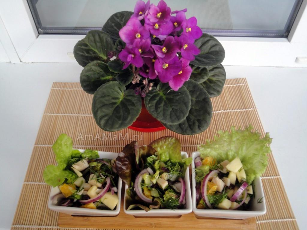 Как сделать салат с консервированным кальмаром