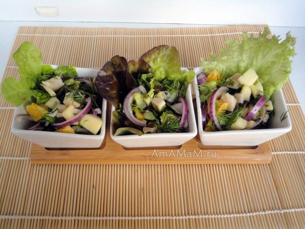 Салат из кальмаров - рецепт и фото