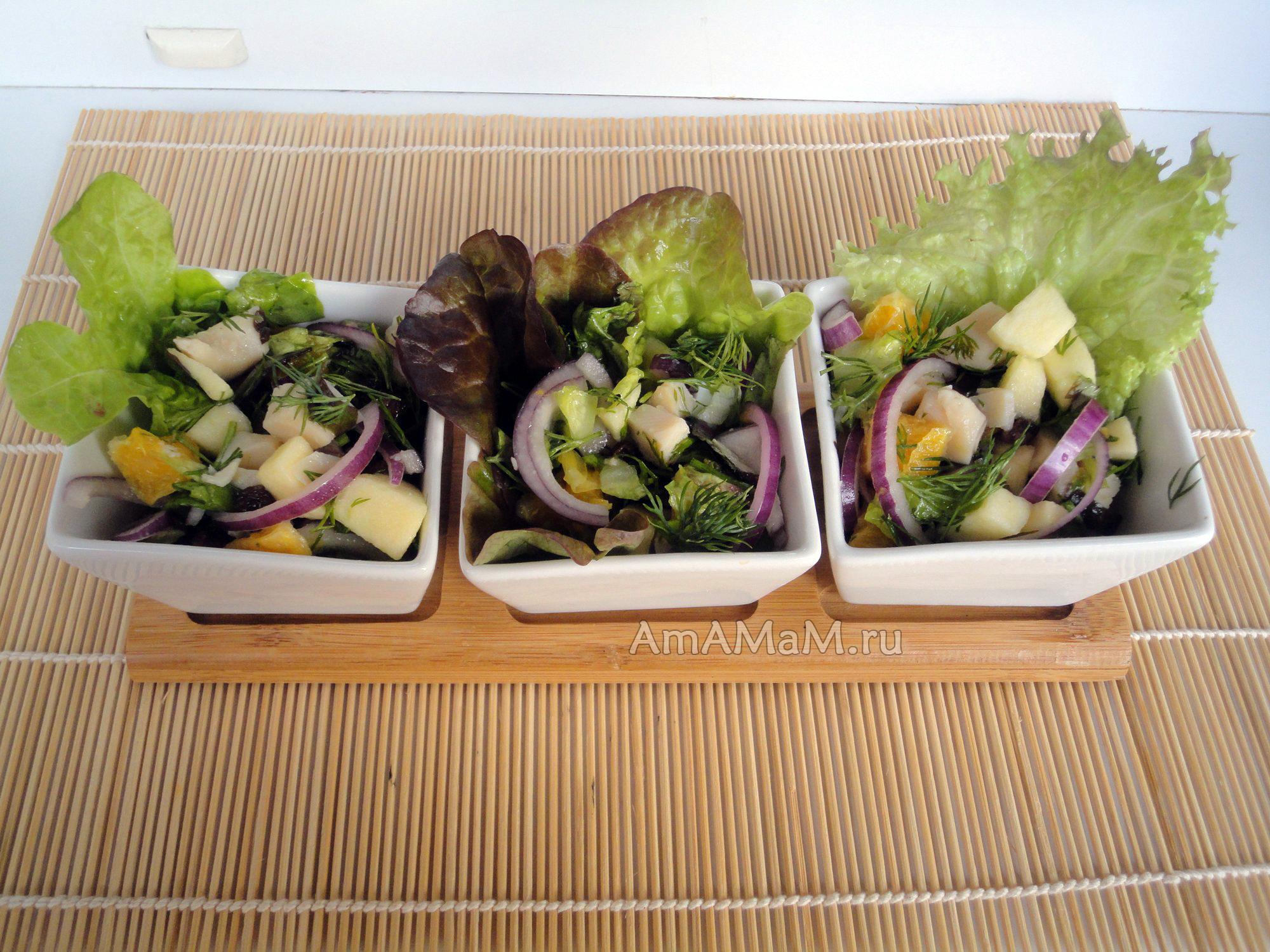 рецепт салат из кальмаров с капустой рецепт с фото