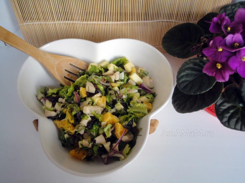 Рецепт салата - консервированные камальры