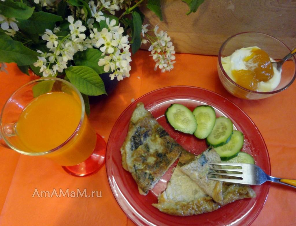 Рецепт омлета с крапивой и способ приготовления
