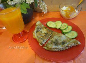 Крапивный омлет - рецепт с фото