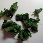 Фото нарезки крапивы для омлета и рецепт