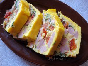 Рецепт приготовления омлета в печке (микроволновке, духовке)