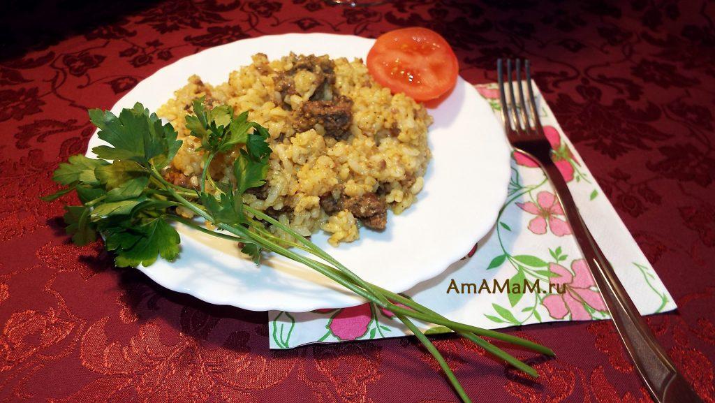 Рецепт плова из фарша с рисом и булгуром - способ приготовления