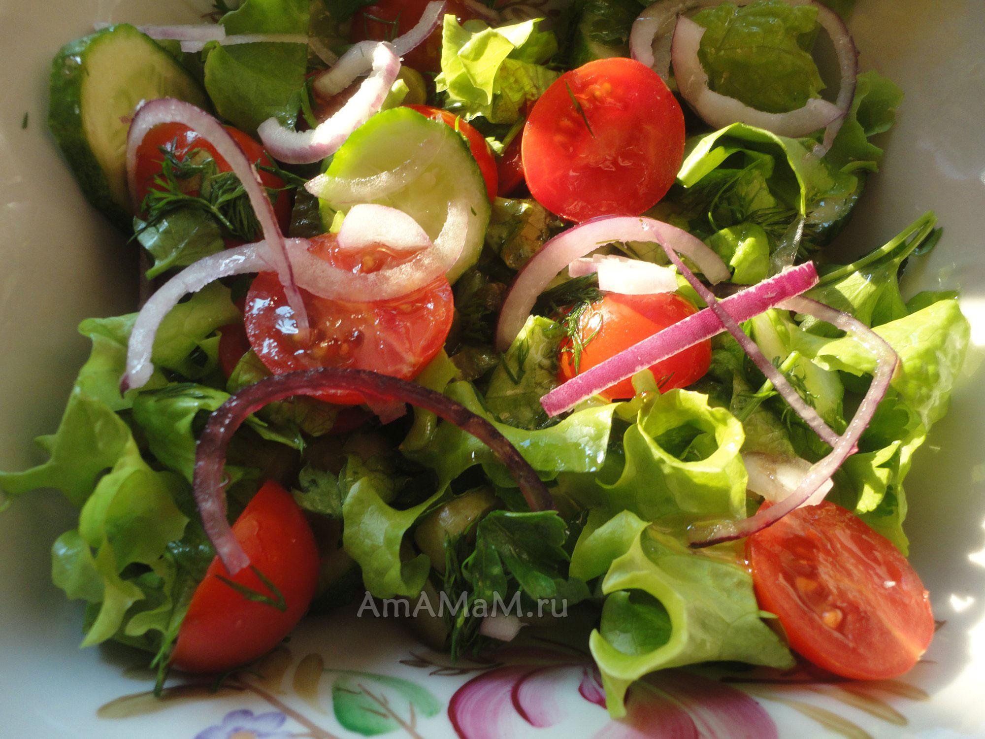 Закуска из листьев салата рецепты с фото