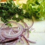 Этапы приготовления салата
