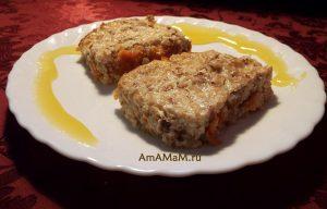 Пирог из гречневой крупы с творогом, медом и сухофруктами (гречаник) - рецепт с пошаговыми фото