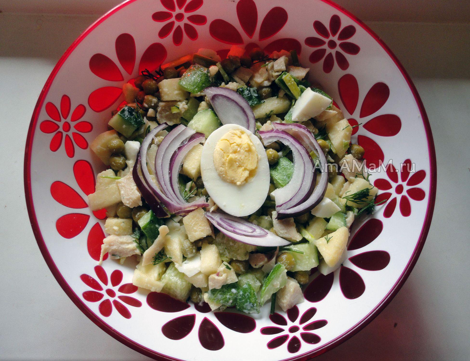 салат из кальмаров с яблоком рецепт с фото очень вкусный