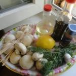 Рецепт и приготовления шашлыка из шампиньонов