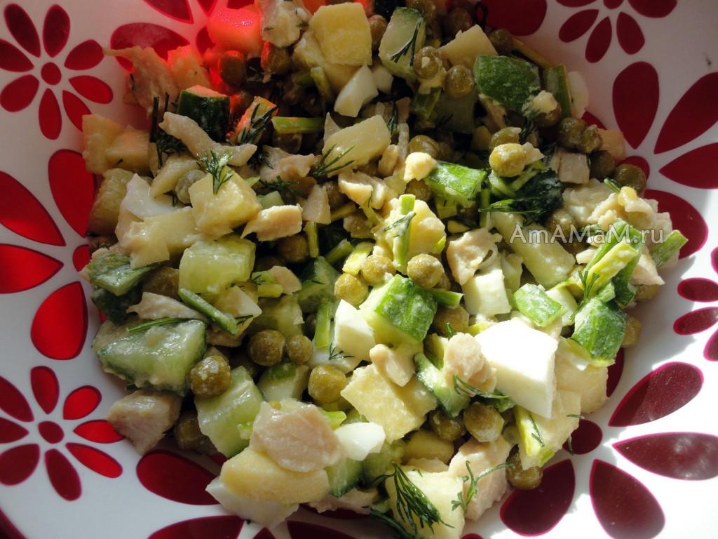 Приготовление салата с кальмарами - пошаговый рецепт