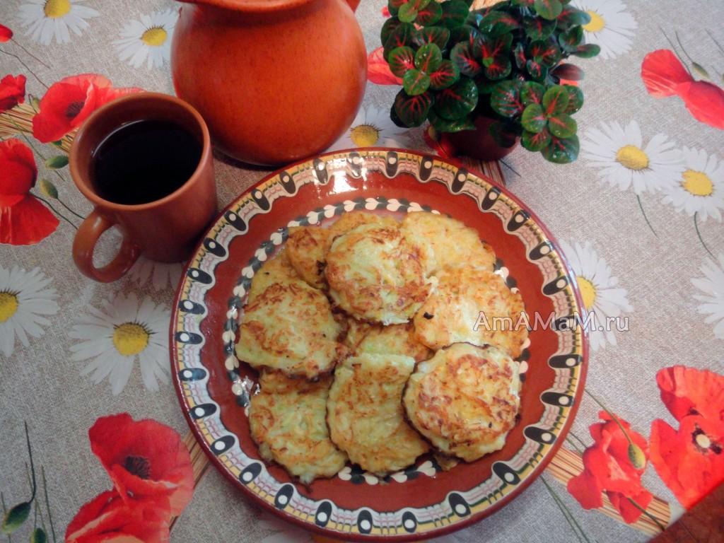 Состав и рецепт оладьев из кабачков