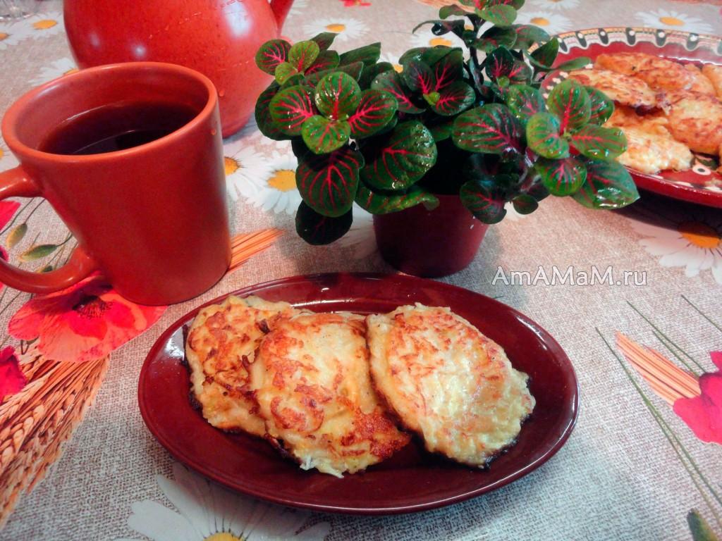 Кабачковые оладьи с сыром - рецепт