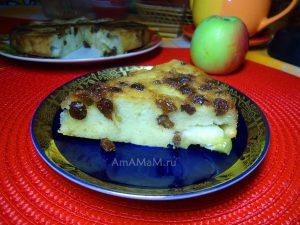 Рецепт яблочного пирога с изюмом на растительном масле