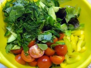 Микс салатный - рецепты